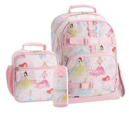 Potterybarn Mackenzie Disney Princess Castle Shimmer Backpack & Lunch Bundle, Set Of 3