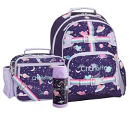 Potterybarn Mackenzie Rainbow Heart Galaxy Backpack & Cold Pack Lunch Bundle, Set Of 3