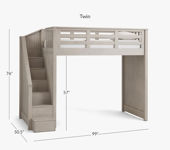 Catalina Stair Loft Bed For Kids Pottery Barn Kids