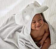 Potterybarn Elephant Baby Hooded Towel