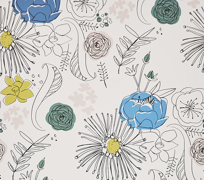 Chasing Paper Wall Paper Fine Point Floral | Pottery Barn Kids