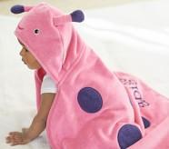 Potterybarn Ladybug Baby Hooded Towel