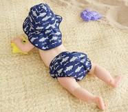 Potterybarn Shark Diaper Cover & Reversible Hat