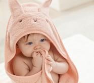 Potterybarn Bunny Baby Hooded Towel and Washcloth Set