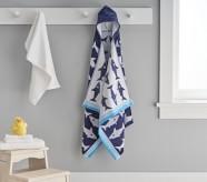 Potterybarn Shark Kid Hooded Towel