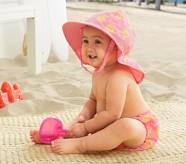 Potterybarn Sunshine Diaper Cover & Reversible Hat