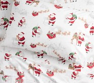 Potterybarn Organic Heritage Santa Kids Sheet Set