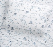 Potterybarn Organic Dinosaur Bones Glow-in-the-Dark Kids Sheet Set