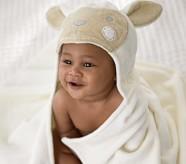 Potterybarn Lamb Baby Hooded Towel