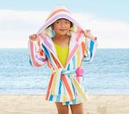 Potterybarn Rugby Stripe Kid Beach Robe
