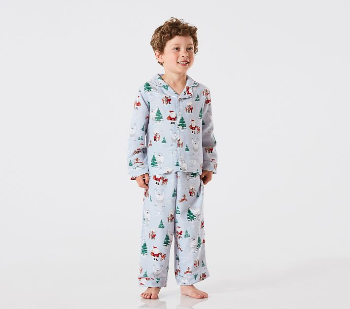 Rudolph 174 And Bumble 174 Kids Flannel Pajama Pottery Barn Kids