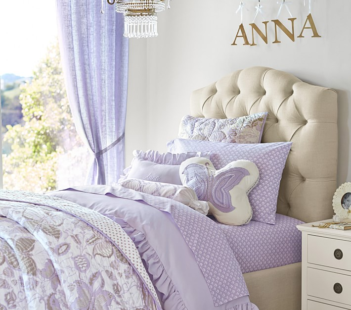 Eliza Tufted Kids Upholstered Bed Amp Headboard Pottery