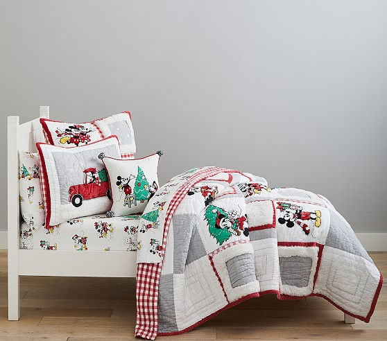 Disney Mickey Mouse Holiday Bedding Look Pottery Barn Kids