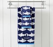 Potterybarn Shark Kids Bath Towel