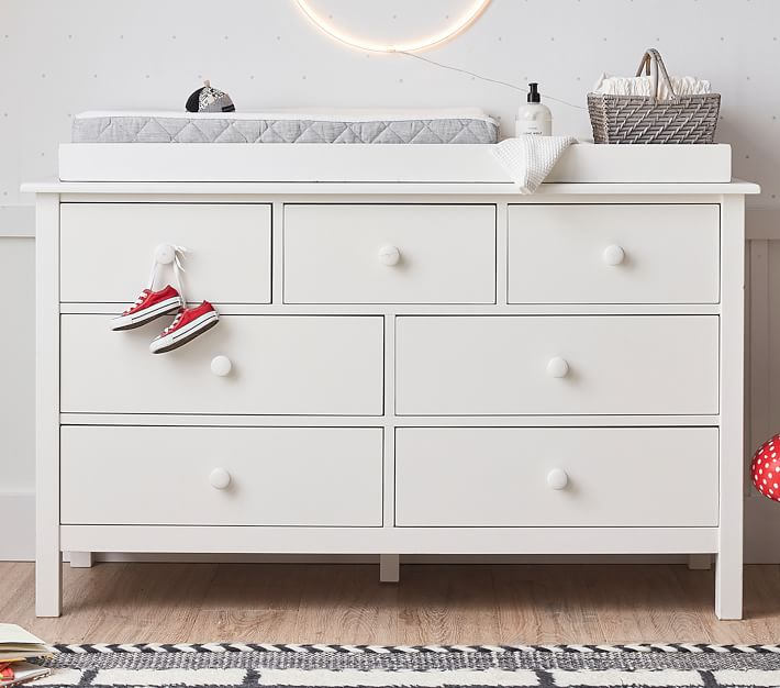 Kendall Extra Wide Nursery Changing Table Dresser Amp Topper