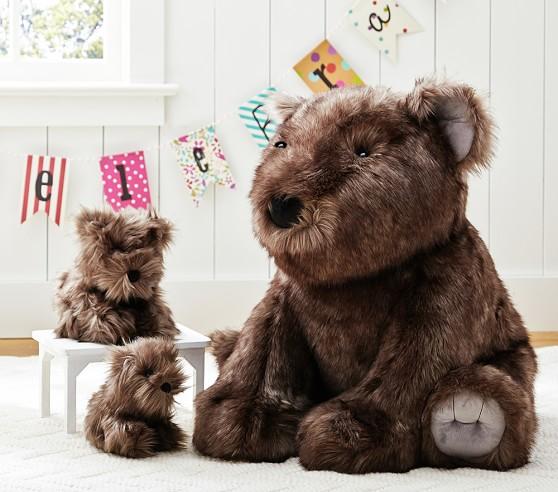 Sunbear Stuffed Animal, Plush Faux Fur Sun Bear Kids Stuffed Animal Pottery Barn Kids