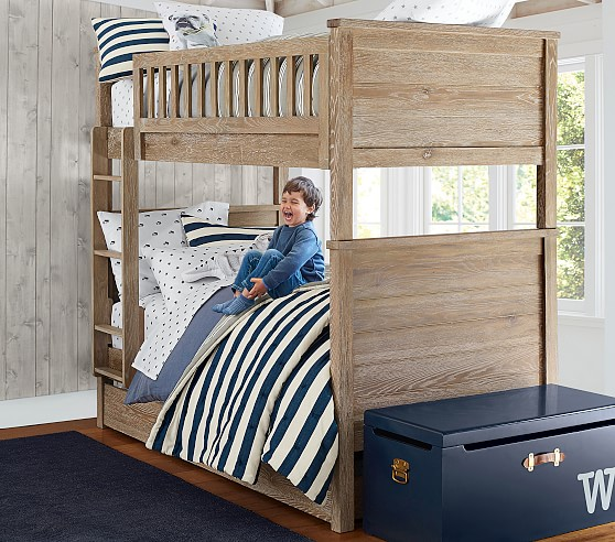 Charlie Twin-Over-Twin Kids Bunk Bed | Pottery Barn Kids