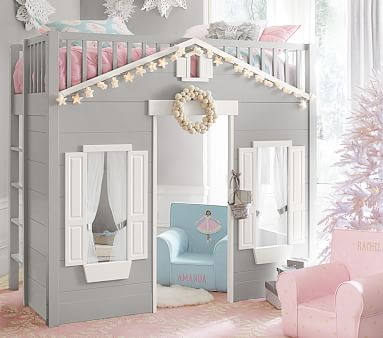 Playhouse Loft Bed For Kids Pottery Barn Kids