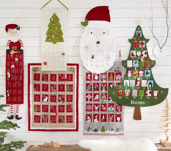 Quilted Kids Advent Calendar Pottery Barn Kids
