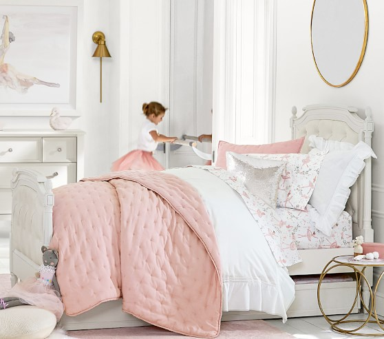 NWT Pottery Barn kids Classic Bed Skirt Queen size