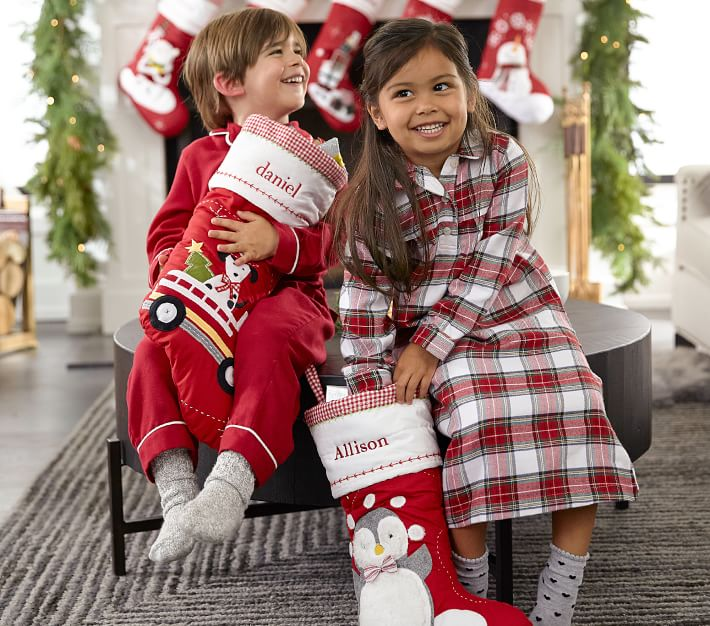 Quilted Christmas Stocking Collection Pottery Barn Kids