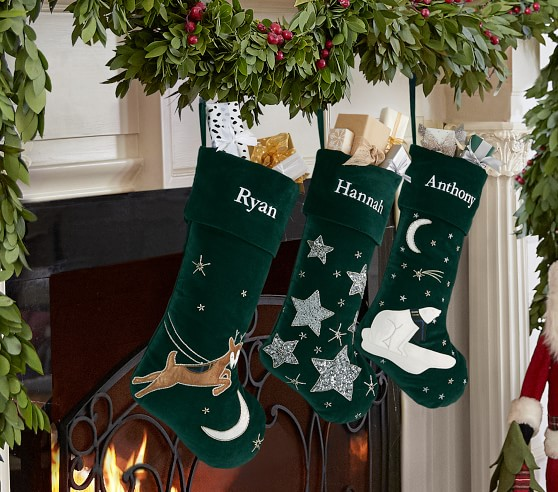 Luxe Velvet Christmas Stocking Collection Pottery Barn Kids