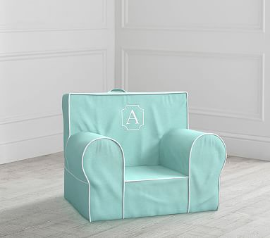 My First Aqua With White Piping Anywhere Chair 174 Toddler