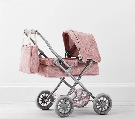 pink glitter mini pram doll stroller c