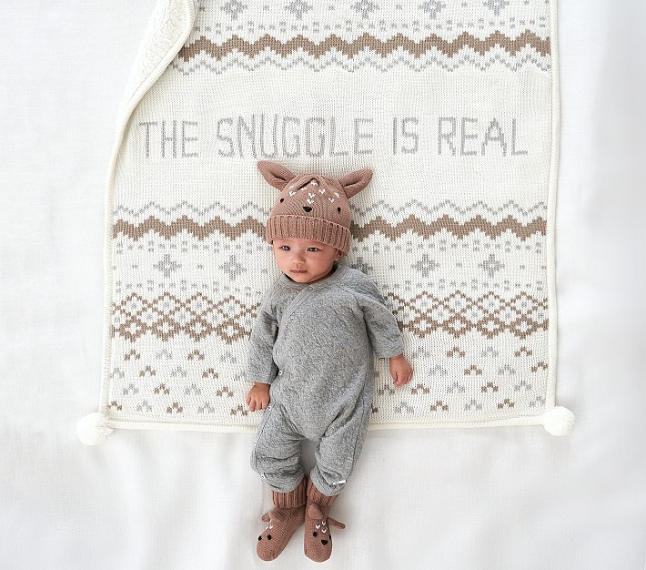 The Snuggle Is Real Baby Blanket Pottery Barn Kids