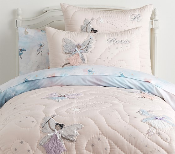 POTTERY BARN KIDS Celeste Fairy Organic Pillowcase Standard NEW