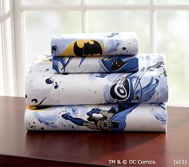 Sheet Set Pottery Barn Kids, Batman Queen Bedding
