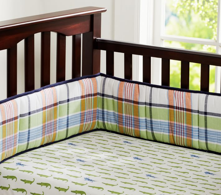 Alligator Madras Crib Bedding Set Pottery Barn Kids