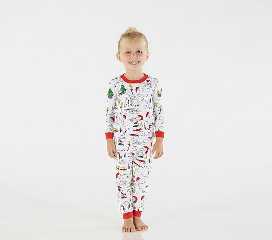 Holiday Snoopy Tight Fit Kids Pajama Pottery Barn Kids
