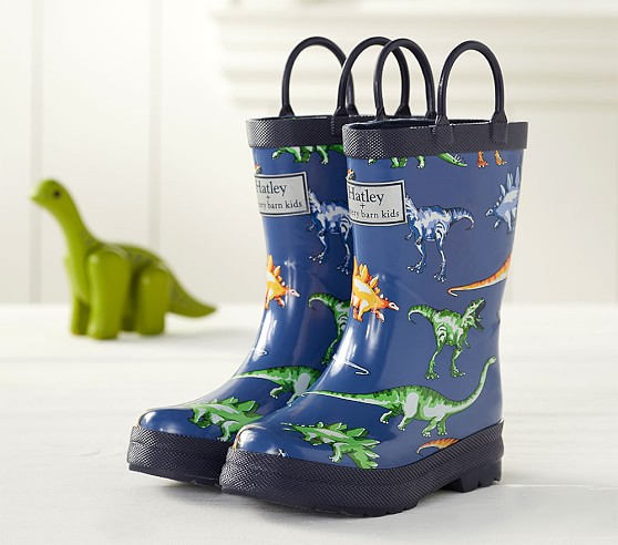 Hatley Blue Multi Dinos Kids Rain Boots