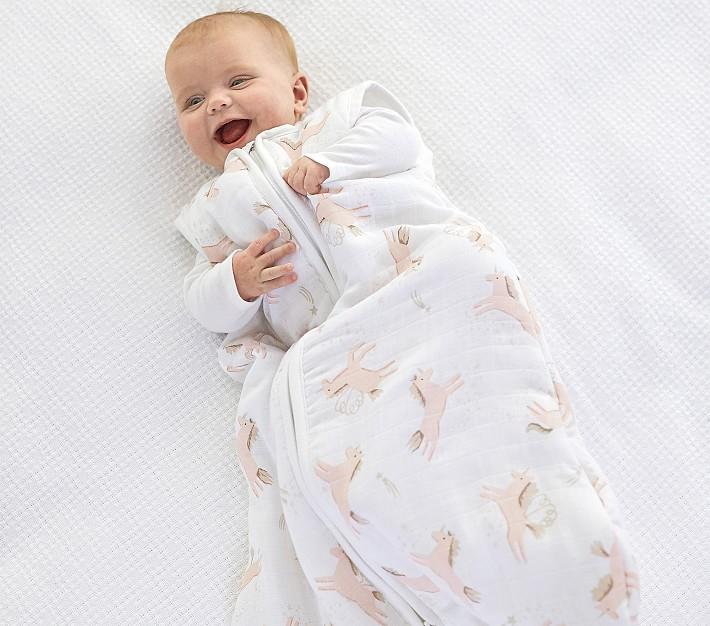 Muslin Mila Wearable Blanket Pottery Barn Kids