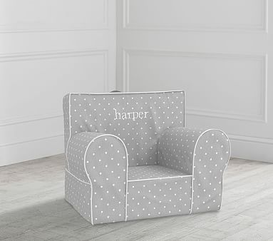 My First Gray Pin Dot Anywhere Chair 174 Toddler Armchair