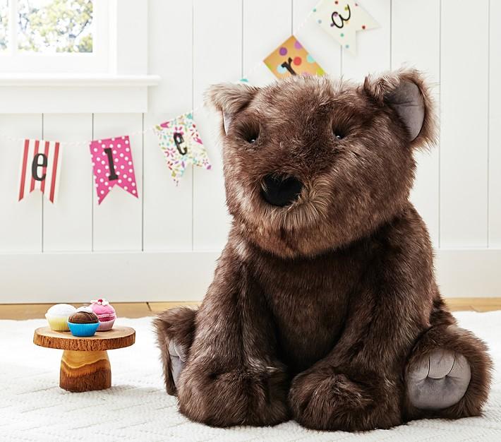 Sunbear Stuffed Animal, Plush Faux Fur Jumbo Sun Bear Kids Stuffed Animal Pottery Barn Kids