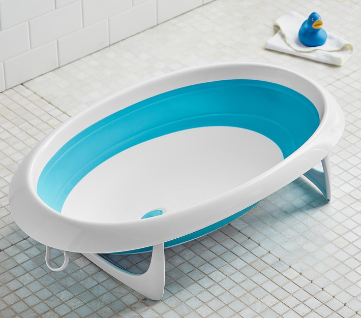 Boon Naked Collapsible Modern Baby Bath Pottery Barn Kids