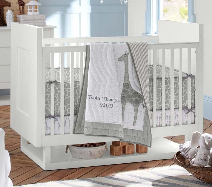 Tobin Crib Bedding Set Pottery Barn Kids, Cheetah Print Baby Bedding Set