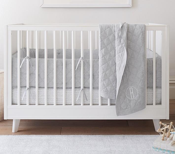 Belgian Flax Linen Crib Bedding Sets, Farm Toddler Bedding Sets