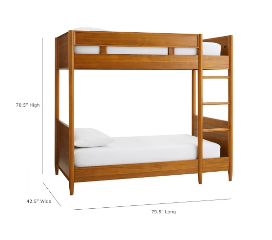 West Elm X Pbk Mid Century Twin Over Twin Bunk Bed Pottery Barn Kids