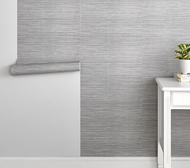 gray seagrass peel stick wallpaper m