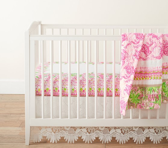 Lilly Pulitzer Picture Perfect Crib, Lilly Pulitzer First Impression Bedding