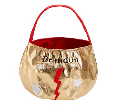 Gold Superhero Trick Or Treat Bag Pottery Barn Kids
