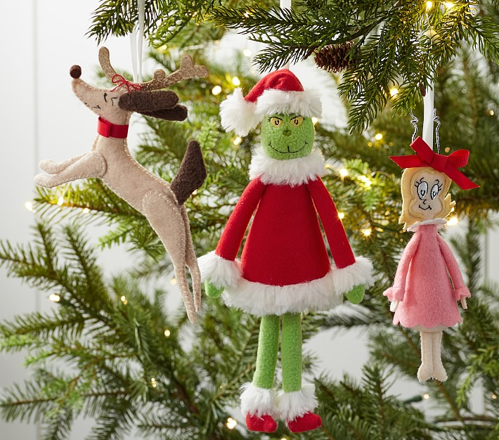 Dr Seuss S The Grinch Plush Christmas Ornaments Pottery Barn Kids