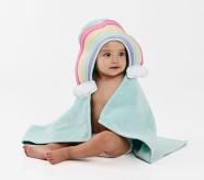 Potterybarn Rainbow Baby Hooded Towel