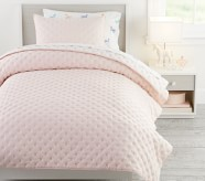 Potterybarn Square Stitch Quilt & Shams