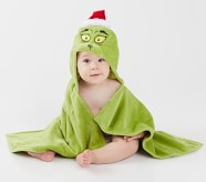 Potterybarn Dr. Seusss The Grinch Baby Hooded Towel