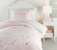 Potterybarn Rainbow Unicorn Kids Comforter Set