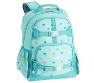 Potterybarn Aqua Multi Heart Glow-in-the-Dark Kids Backpacks